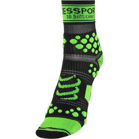 Compressport Racing V2 Trail Hoge Sokken, black/green